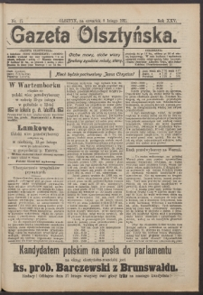 Gazeta Olsztyńska, 1911, nr 17