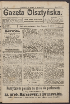 Gazeta Olsztyńska, 1911, nr 19