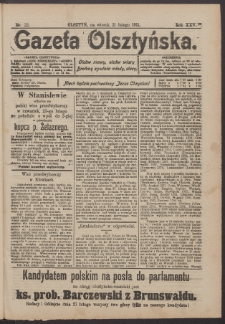 Gazeta Olsztyńska, 1911, nr 22