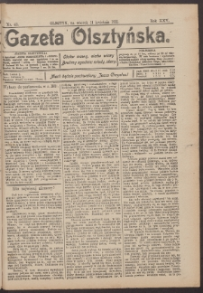 Gazeta Olsztyńska, 1911, nr 43