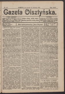 Gazeta Olsztyńska, 1911, nr 48