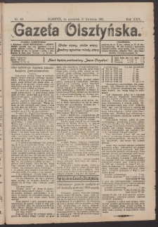 Gazeta Olsztyńska, 1911, nr 49
