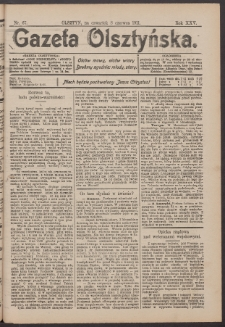 Gazeta Olsztyńska, 1911, nr 67