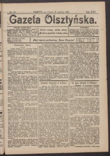 Gazeta Olsztyńska, 1911, nr 69