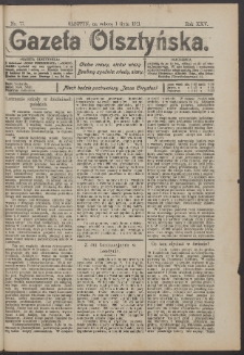 Gazeta Olsztyńska, 1911, nr 77