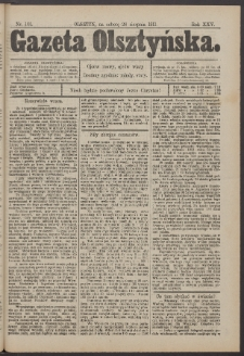 Gazeta Olsztyńska, 1911, nr 101