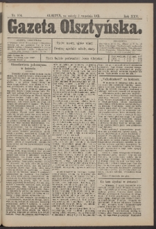 Gazeta Olsztyńska, 1911, nr 104