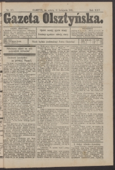 Gazeta Olsztyńska, 1911, nr 137