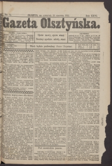 Gazeta Olsztyńska, 1912, nr 72