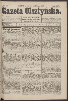 Gazeta Olsztyńska, 1912, nr 119