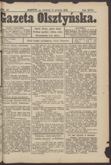Gazeta Olsztyńska, 1912, nr 147