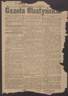 Gazeta Olsztyńska, 1913, nr 1