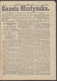 Gazeta Olsztyńska, 1913, nr 40