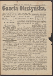 Gazeta Olsztyńska, 1913, nr 46