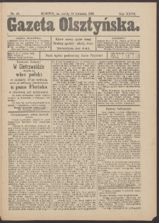 Gazeta Olsztyńska, 1913, nr 49