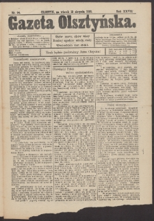 Gazeta Olsztyńska, 1913, nr 94