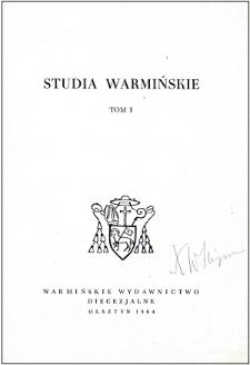 Studia Warmińskie T. 1 (1964) - cały numer