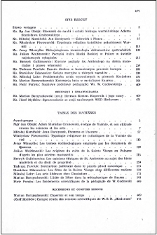Studia Warmińskie T. 1 (1964) - spis treści