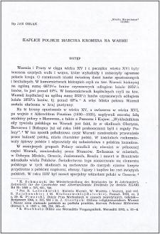 Kaplice polskie Marcina Kromera na Warmii