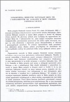 """Uprawnienia biskupów dotyczące Mszy św. zawarte w motu proprio """"Pastorale minus"""""""