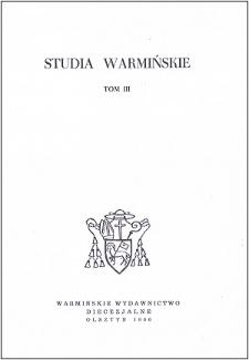 Studia Warmińskie T. 3 (1966) - cały numer
