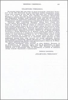 Collectanea Theologica