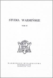 Studia Warmińskie T. 4 (1967) - cały numer