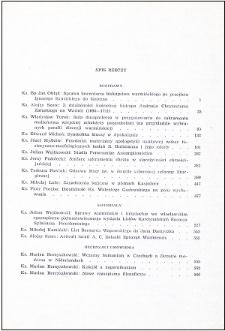 Studia Warmińskie T. 4 (1967) - spis treści
