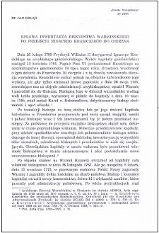 Sprawa inwentarza biskupstwa warmińskiego po przejściu Ignacego Krasickiego do Gniezna