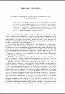 """Wczesny humanizm w Czechach a """"Devotio moderna"""" w Niderlandach : [recenzja]"""