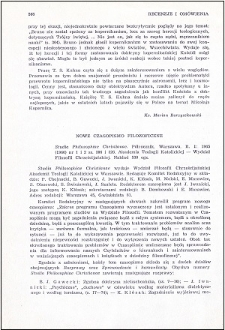 Nowe czasopismo filozoficzne [Studia Philosophiae Christianae]