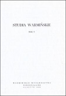 Studia Warmińskie T. 5 (1968) - cały numer