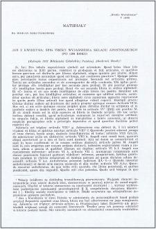 Jan z Kwidzyna : spis treści wyjaśnienia składu apostolskiego (po 1399 roku)