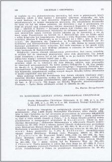 """Na marginesie lektury """"Studia Philosophiae Christianae"""""""