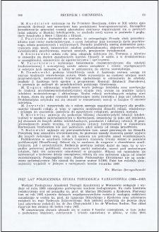 "Pięć lat półrocznika ""Studia Theologica Varsaviensia"" (1963-1967)"