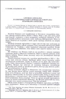 """Liturgia (mszalna) w """"Confessio fidei catholicae Christiana"""" Stanisława Hozjusza"""