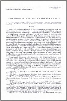 Ideał biskupa w życiu i nauce Stanisława Hozjusza