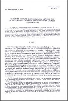 Warunki i etapy zastosowania metody JOC w działalności apostolskiej wśród młodzieży pozaszkolnej