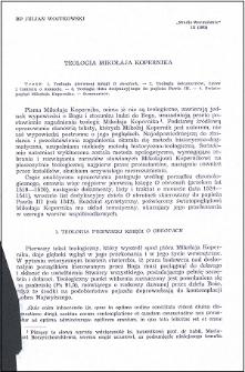 Teologia Mikołaja Kopernika