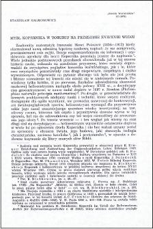 Myśl Kopernika w Toruniu na przełomie XVII/XVIII wieku