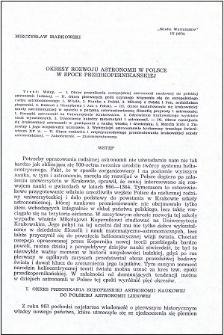 Okresy rozwoju astronomii w Polsce w epoce przedkopernikańskiej