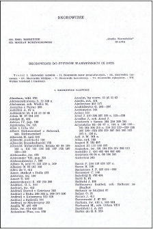 """Skorowidze do """"Studiów Warmińskich"""" 9 (1972)"""