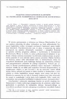 """Praktyki duszpasterskie kleryków na przykładzie Warmińskiego Seminarium Duchownego """"Hosianum"""""""