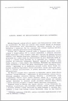 "Kościół wobec ""De revolutionibus"" Mikołaja Kopernika"