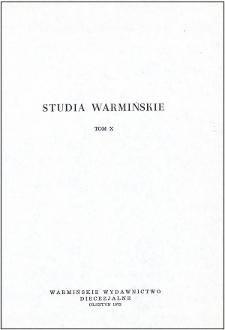 Studia Warmińskie Tom 10 (1973) - cały numer