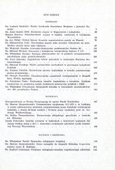 Studia Warmińskie Tom 10 (1973) - spis treści