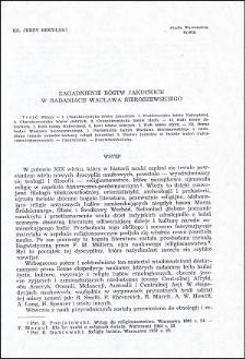 Zagadnienie bóstw jakuckich w badaniach Wacława Sieroszewskigo