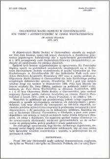 Objawienia Matki Boskiej w Gietrzwałdzie : ich treść i autentyczność w opinii współczesnych : (w stulecie objawień) 1877-1977
