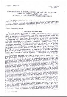 Uroczystości gietrzwałdzkie, ich aspekt katolicki oraz polski w latach 1877-1944 w świetle władz wschodniopruskich