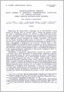 """Nieopublikowany rękopis Sługi Bożego o. Honorata Koźmińskiego, kapucyna, pt.: """"Chwała Jezusowi przez Maryję Niepokalanie Poczętą : (opis objawień w Gietrzwałdzie)"""""""
